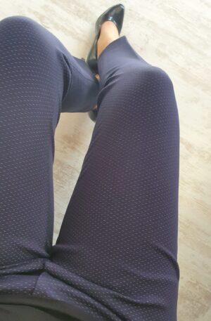 Nohavice Ariela modré s bodkou