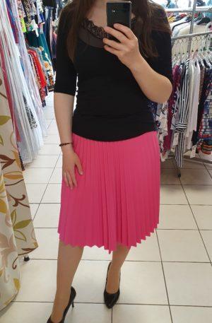 Ružová plisovaná sukňa