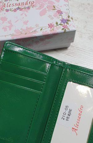 Peňaženka Allesandro tmavozelená