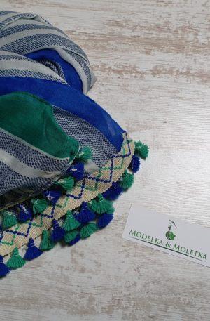Šatka Tiffany zeleno-modrá