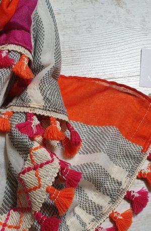 Šatka Tiffany oranžovo-ružová