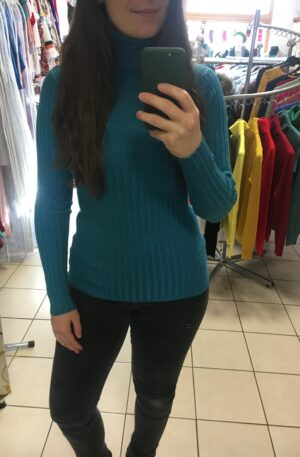 Tenký rolák Kayla – modrý R 034