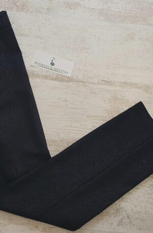 Nohavice Ariela tmavomodré so vzorom