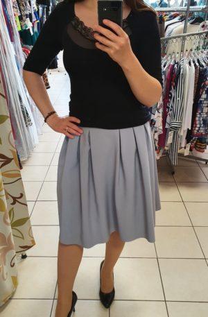 Sivá sukňa Klaudia