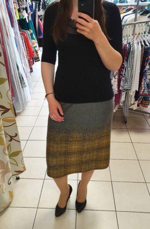 Sivožltá sukňa Ria