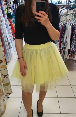 Žltá TUTU sukňa