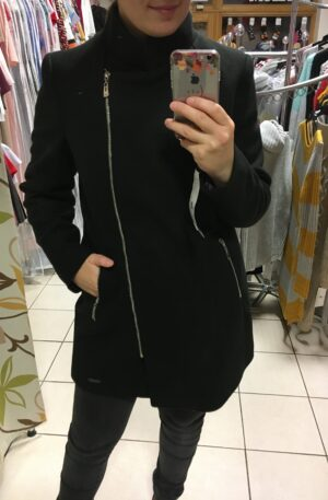 Kabát Emili – čierny