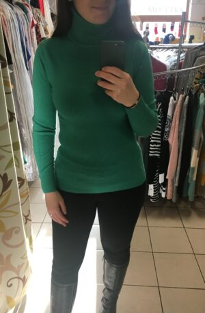 Tenký teplý rolák Elodie – zelený R 017