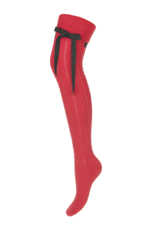 Nadkolienky Ingrid so stužkou červené – P 031