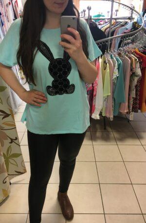 Tričko Rabbit mentolové – P 056