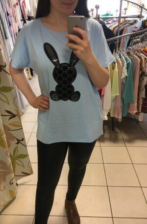 Tričko Rabbit svetlomodré – P 056