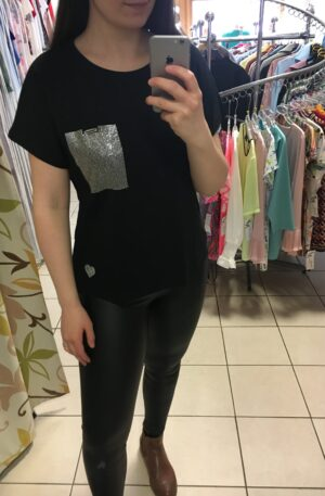 Tričko Pock čierne – P 057